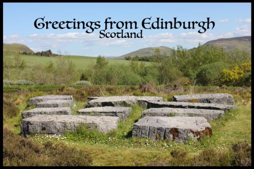 Vykort från Edinburgh